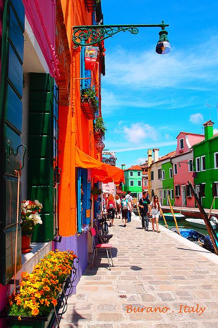Burano, Italy is known for its fine lace making...near Venice