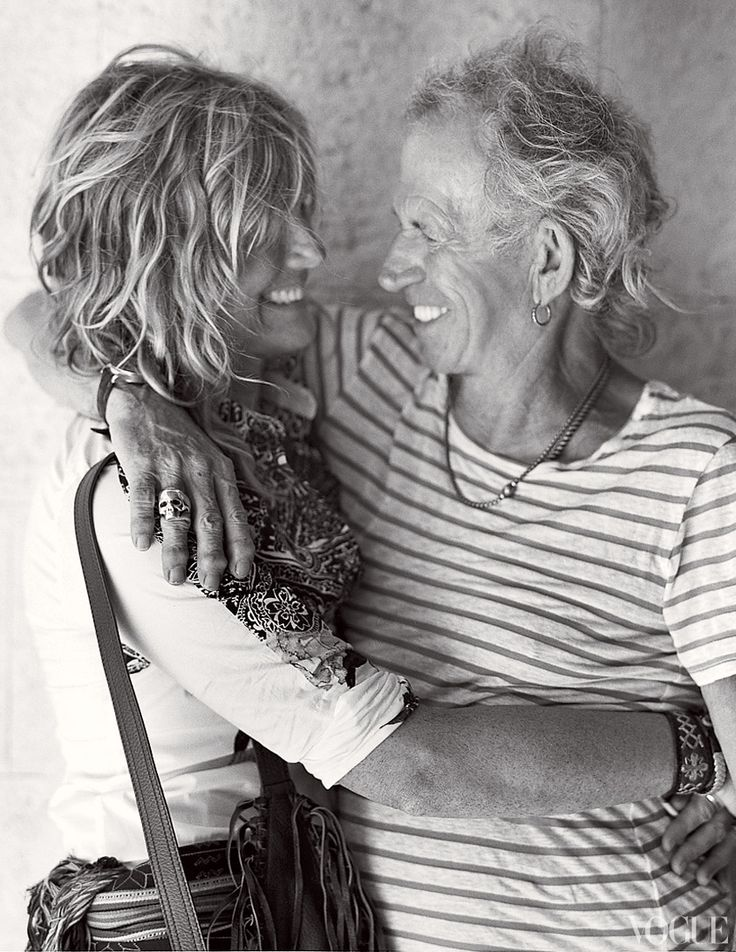 patti hansen and keith richards (a rock couple who is growing old together-love them)