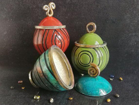 barattoli di zucchero di tè verde in ceramica