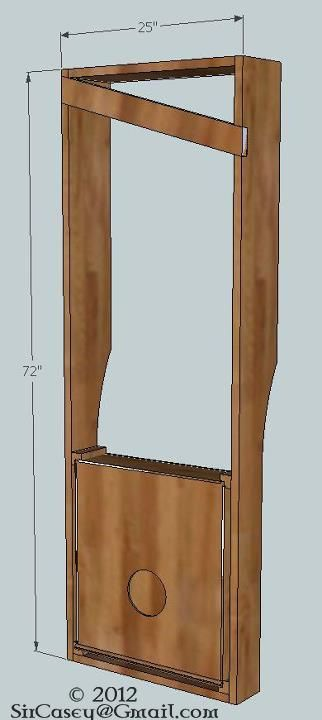 Plans for an Aeolian wind harp woodworking project I'm putting together. I have a more detailed Sketchup file with full dimensions.