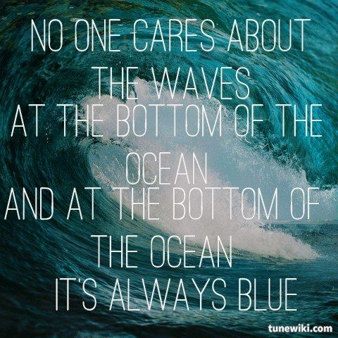 "-- #LyricArt for ""Waves"" by Portugal. The Man"