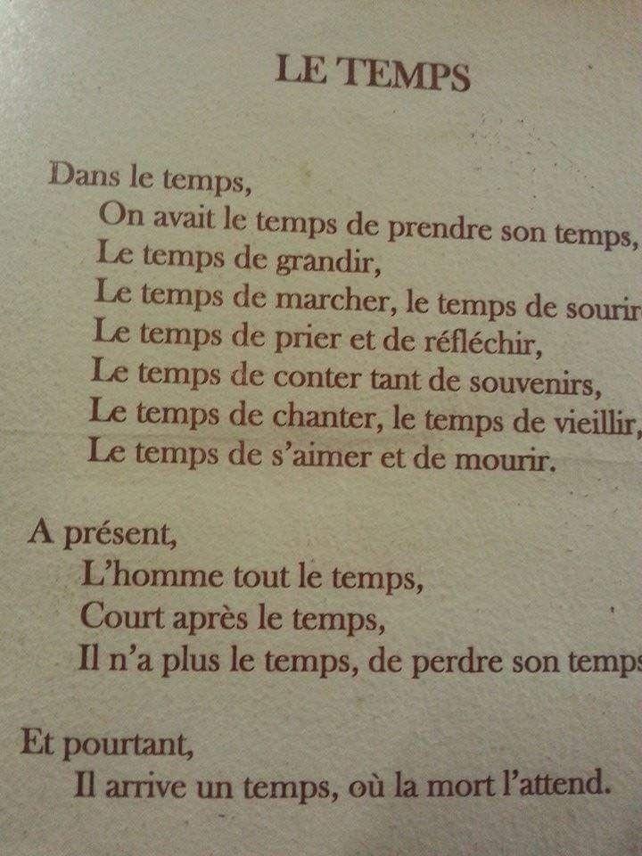 Le temps. Dans le temps... - Inspirant.fr