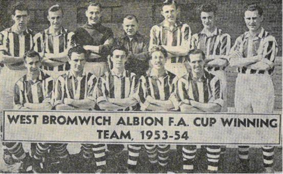 Saturday 1st May 1954 - West Bromwich Albion 3 Preston North End 2 Team:  Sanders, Kennedy, Millard, Dudley, Dugdale, Barlow, Griffin, Ryan, Allen, Nicholls, Lee
