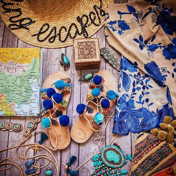 """Our SS17 """"Blue Sapphire"""" sandals are a tropical getaway must have for travel blogger @mayandtravel 🌴🌴🌴"""