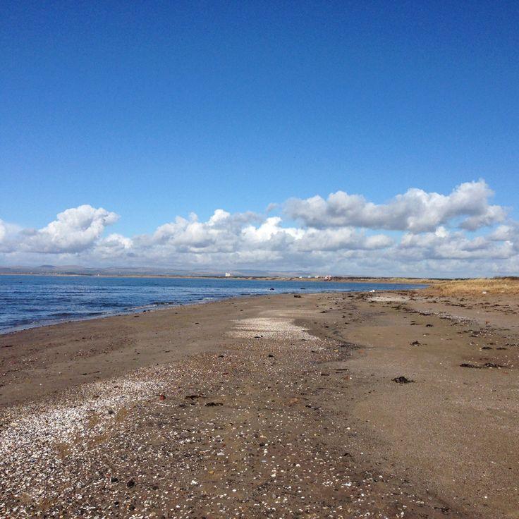 Serene sand. Ayrshire beach, Scotland