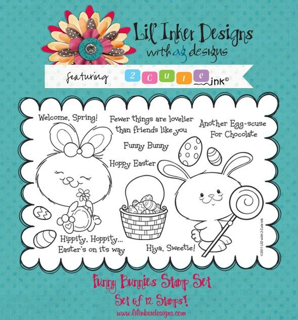 Lil' Inker Designs 2 Cute Ink - Funny Bunnies - bjl