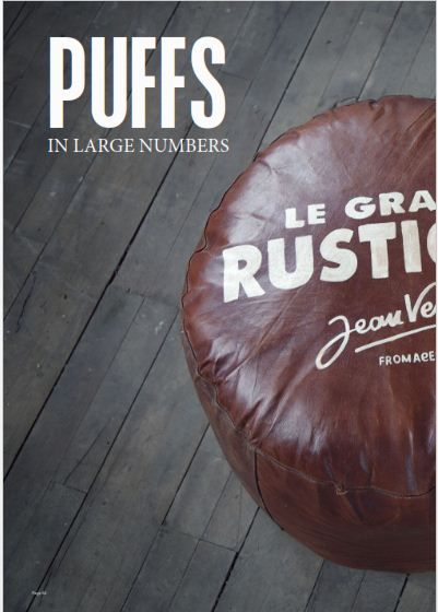 leather pouf. canett