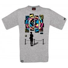 Pán. tričko Square dark grey