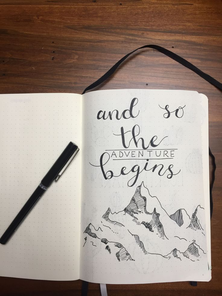First bullet journal first page