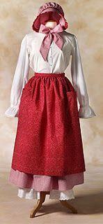 pioneer Trek: Clothing Patterns skirt, apron, bonnet