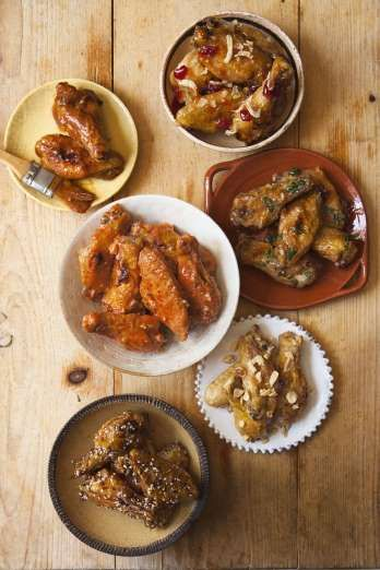 If you're doing a whole-nine-yards kind of platter, this family of six covers the classic wing flavo... - Kate Sears
