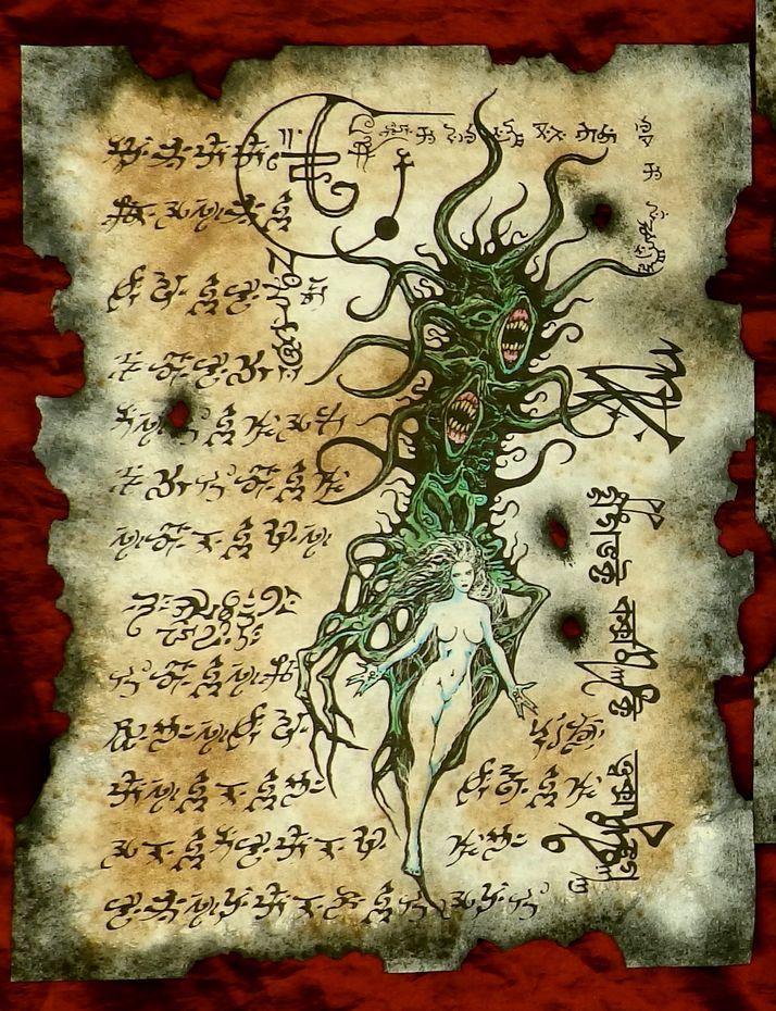 Shub Niggurath Rituals Necronomicon Fragments Cthulhu Larp Lovecraft Cosplay Horror Monster Art Cthulhu Lovecraft Monster Art