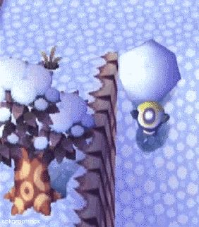 Trying to make a damn snowball. | Community Post: 19 Annoying Things From The Original Animal Crossing Video Game
