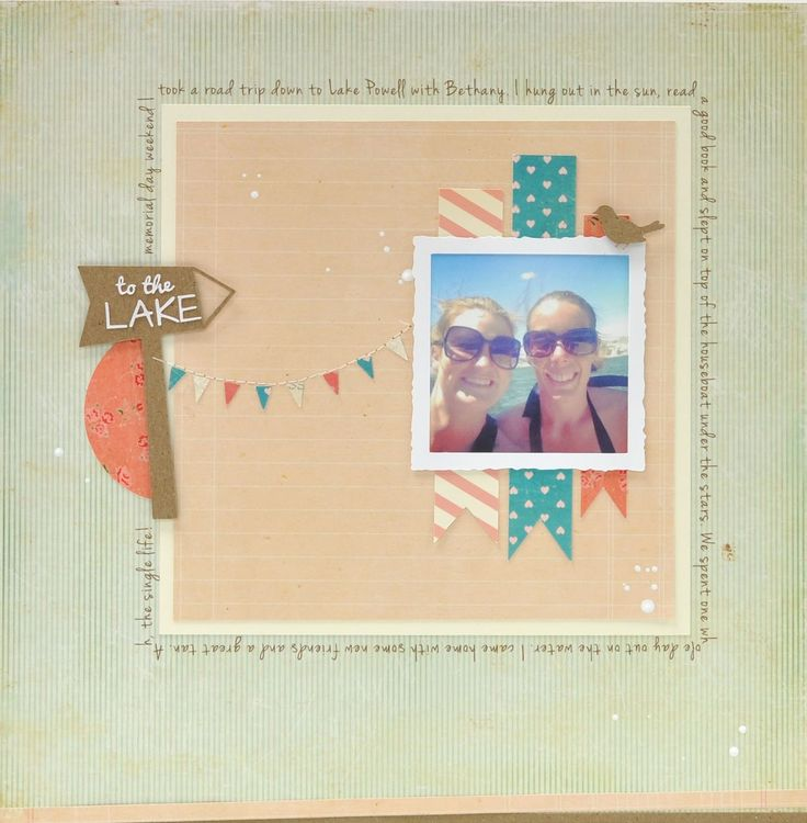 Silhouette Blog: FREE Shape of the Week - Summer Scrapbook Layout: Scrapbook Ideas, Free Shape, Scrapbook Layouts, Silhouette Blog, Summer Scrapbook, Blog Free, Scrapbook Inspiration, Summer Layout, America Blog