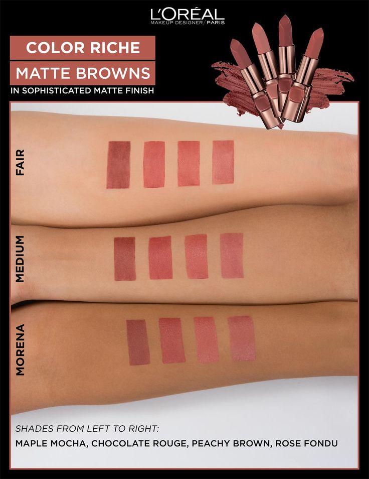 LOreal Paris Color Riche Moist Matte Lipstick 4.2g (BP501 Peachy Brown) | Lazada PH