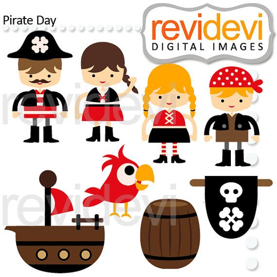 Clipart Pirate Day 07533.. Instant download.. by revidevi on Etsy, $5.95
