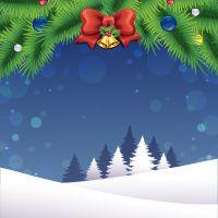 Karácsonyi csengő piros orr és a havas háttér