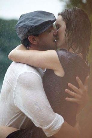 this couple re-enacted the notebook kiss well. thumbs up.