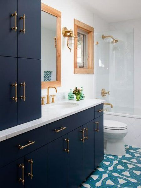Colors for Bathrooms 2021 - Blue #interior #bathroom # ...