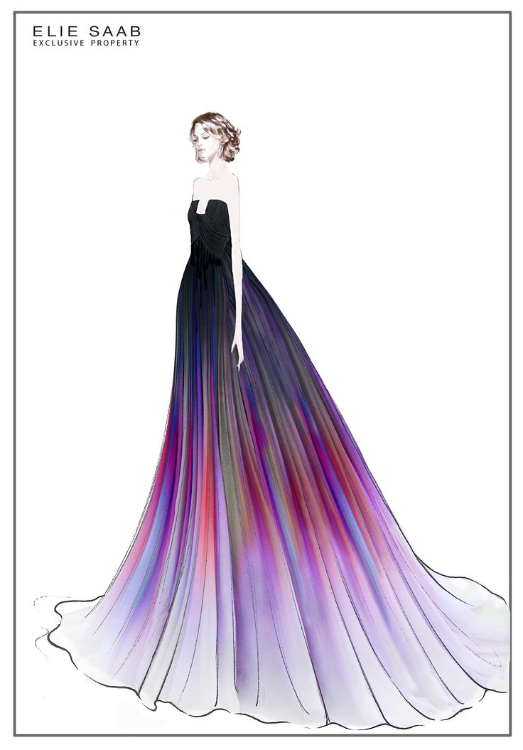 NEW & NOW | Celebrity Style: Lily Collins || From Sketch, to Runway, to Red Carpet: Discover how Lily Collin's silk ombre Haute Couture gown is transformed into her own interpretation of modern elegance, on 'The Light Of Now' www.eliesaab.com/thelightofnow/fr/article/article-96