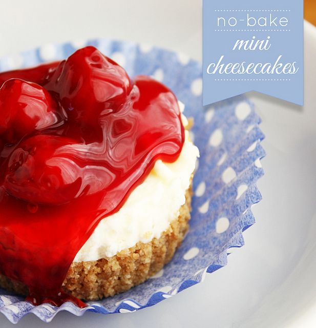 no-bake-mini-cheesecakes by luluthebaker, via Flickr