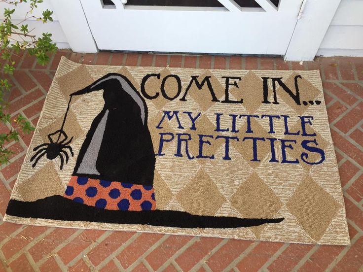 Come In My Pretties Witch Door Mat Outdoor Halloween