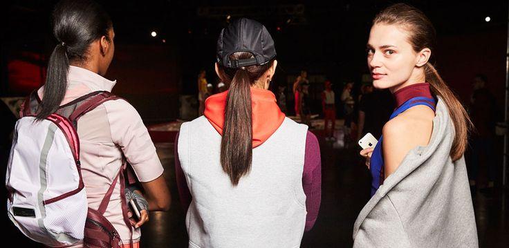 Sporty ponytails for Stella McCartney x Adidas
