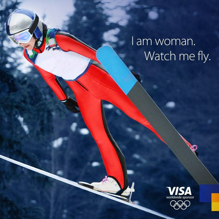 FEMALE SKIERS COMPETE FOR FIRST TIME IN SKI JUMPING -SOCHI 2014 OLYMPICS.