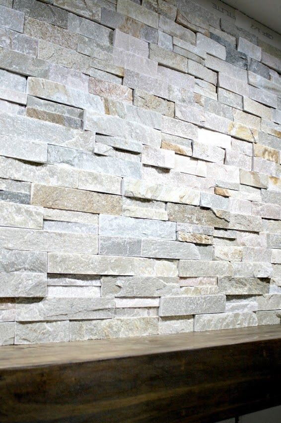 Fireplaces Mantels Ideas How To Install Stacked Stone Tile On A Fireplace Wall
