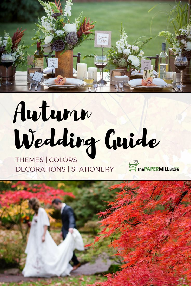 Planning a fall wedding? Don't miss our new Autumn Wedding Guide and discover our favorite fall themes, color palettes, and stationery tips: