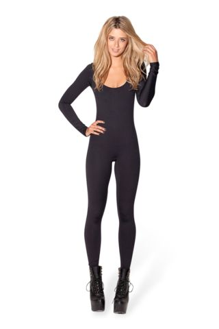 New Matte Black Long Sleeve Catsuit  A winter necessity