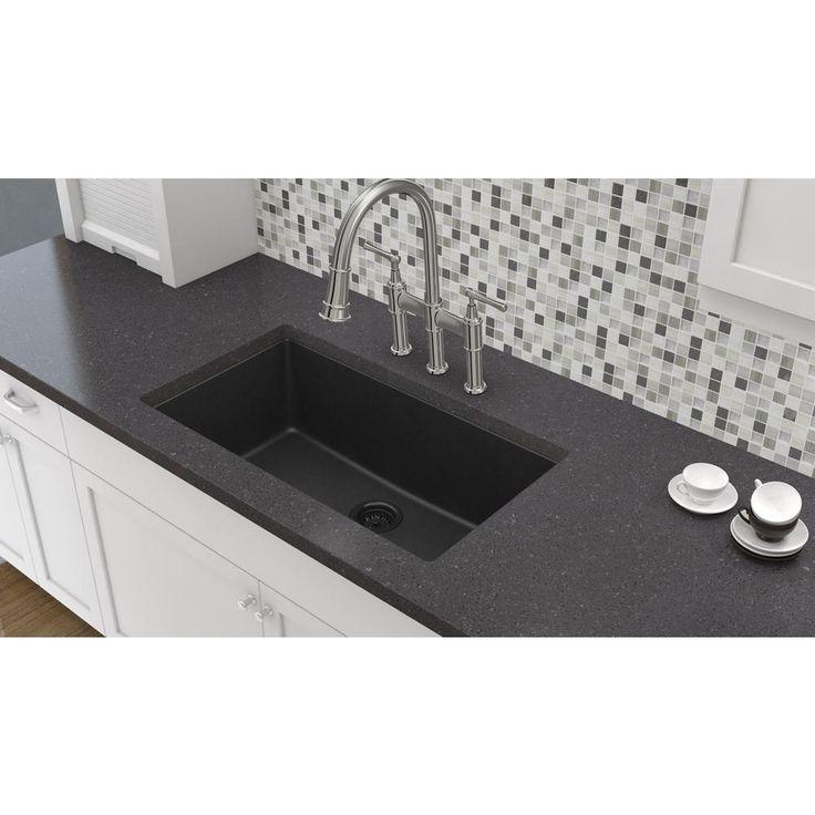 elkay elkay by schock undermount quartz composite 33 in. Black Bedroom Furniture Sets. Home Design Ideas