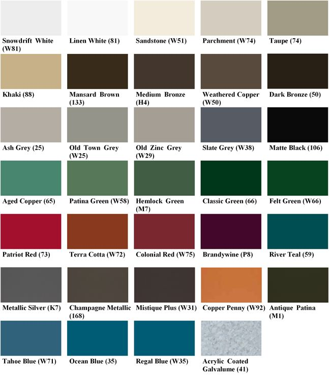 Standing Seam Metal Roofing Colors Log Home Pinterest