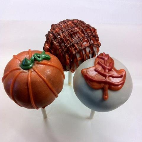 Fall Cake pops! Yumm!