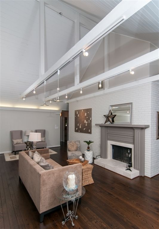 1000 images about rental on pinterest monthly challenge for Exposed beam vaulted ceiling