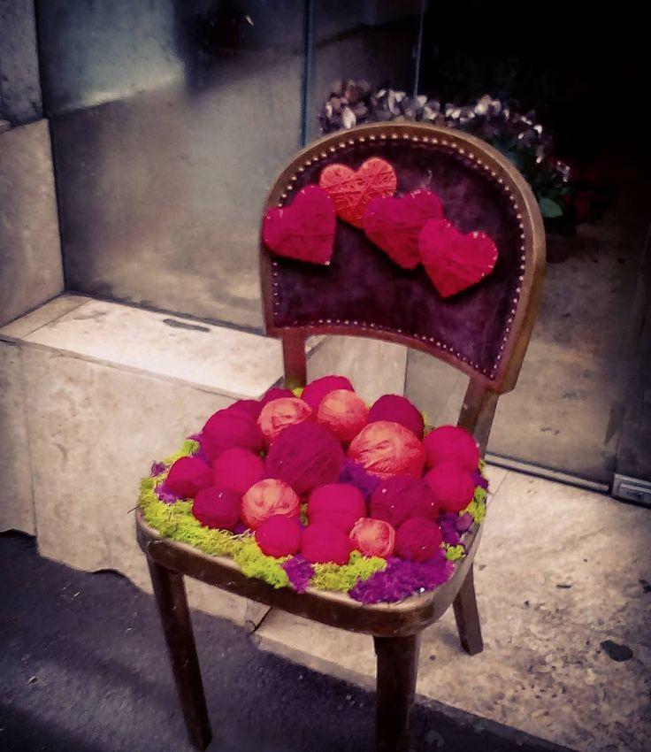 "0 aprecieri, 1 comentarii - Floraria Dorothy's (@florariadorothys) pe Instagram: ""Knitting chair.. #decor #chair #knitting #fun #shopdisplay #cluj #clujnapoca #clujcenter…"""