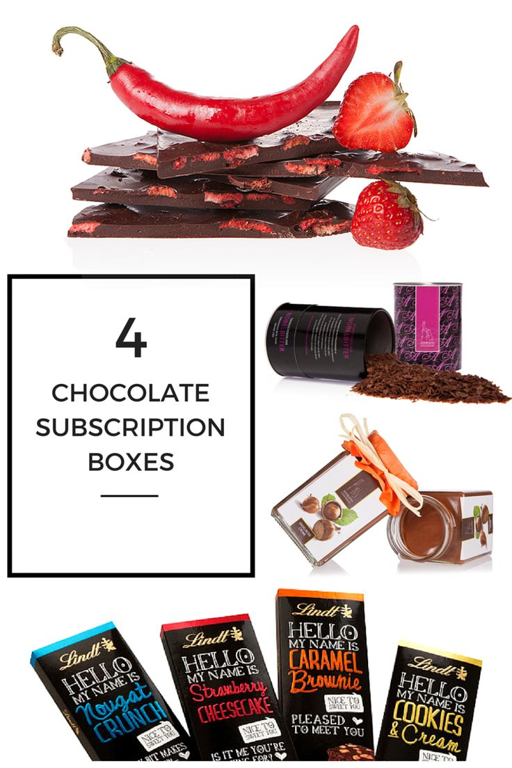 Chocolate Subscription Boxes #chocolate #organic #gifts www.chocolateandmoredelights.com