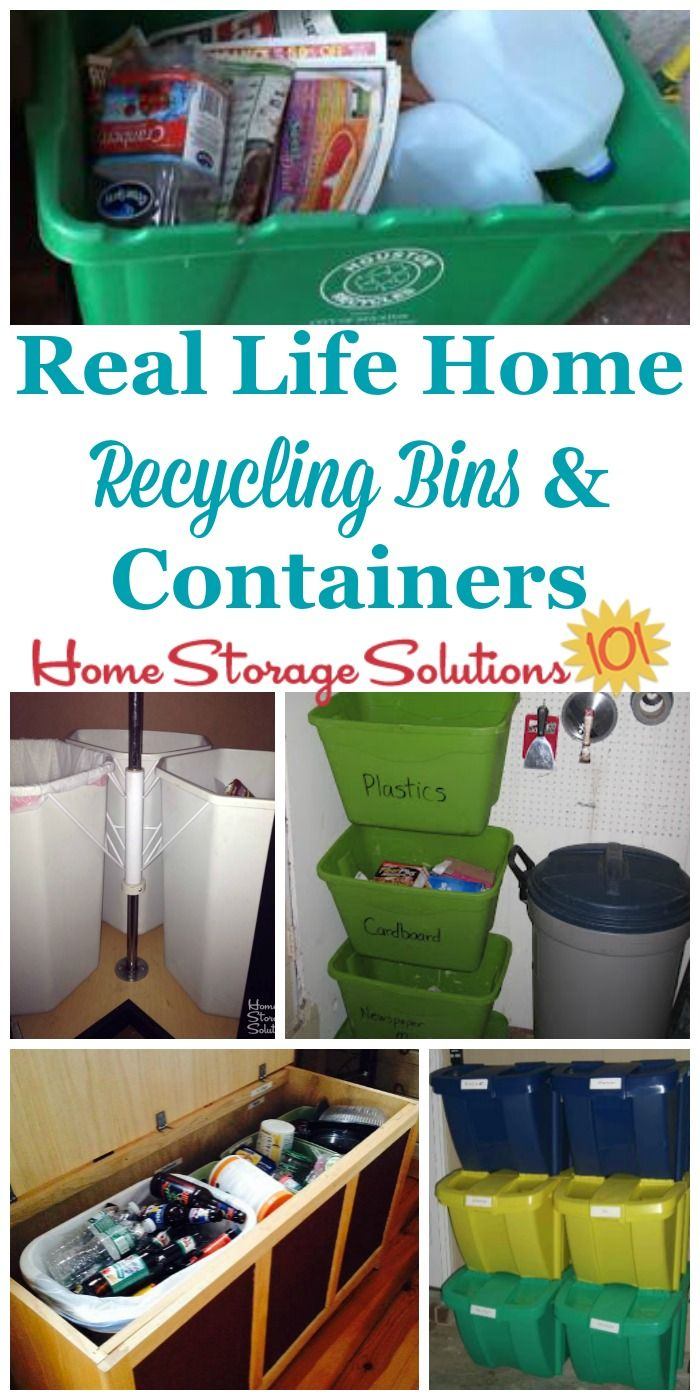Real Life Examples Of Home Recycling Bins And Containers To See How Readers Collect Their Recyclables In Homes On Storage Solutions 101