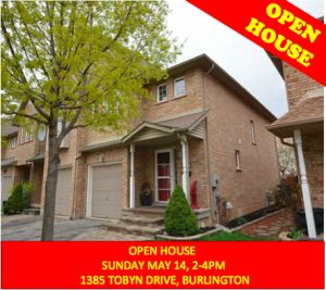 Mother's Day OPEN HOUSE Sun. May 14, 2-4pm. 1385 Tobyn Dr. Burlington