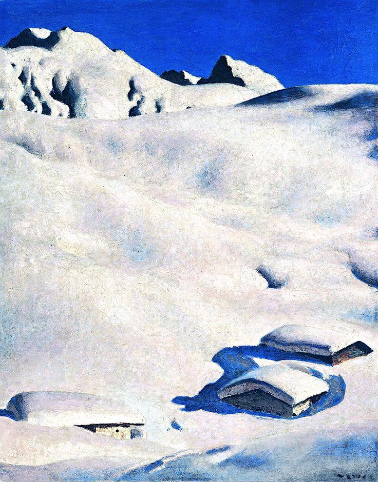 Almen im Schnee - Alfons Walde