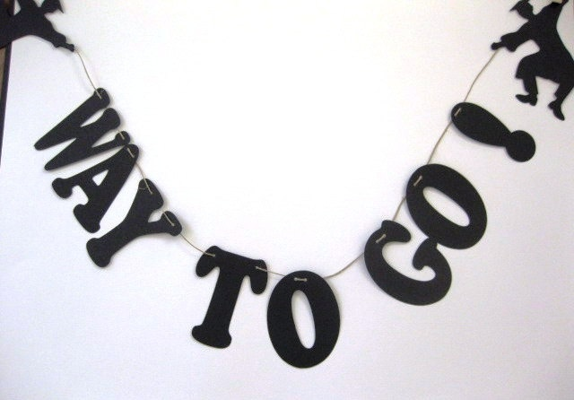 Graduation Banner Way To Go Party by QueenBeeInspirations on Etsy