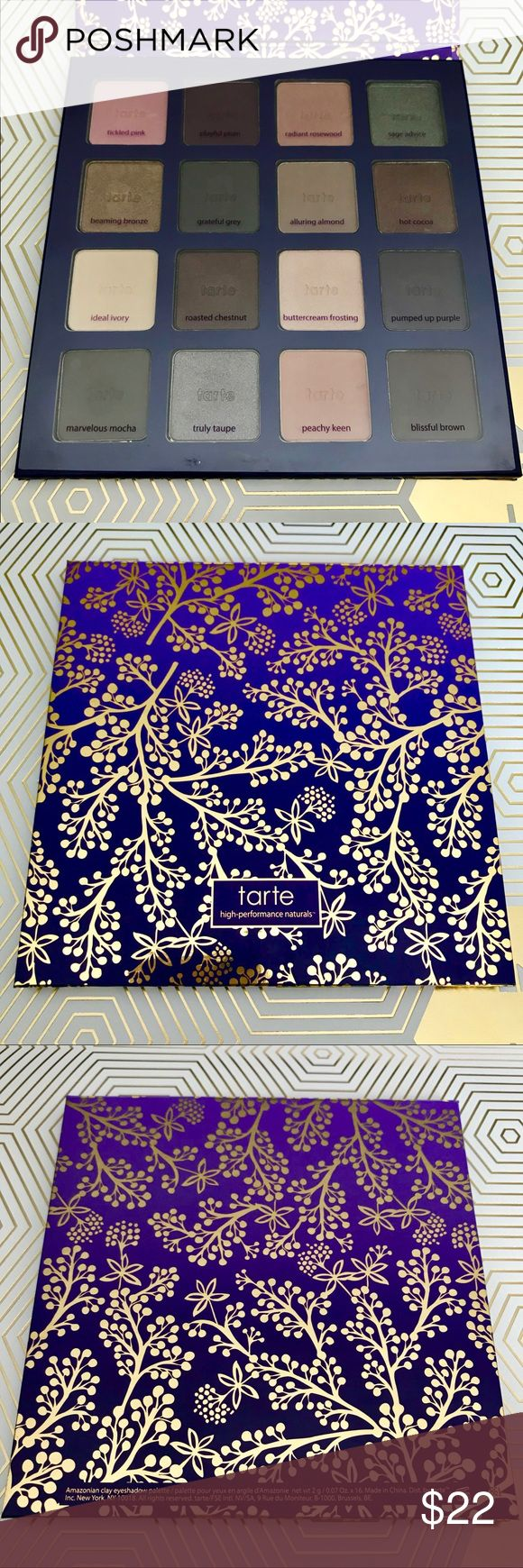 Tarte Amazonian Clay Holiday Palette Limited Edition Holiday palette from Tarte. 16 eyeshadows, used once or twice, most shadows have only been swatched. tarte Makeup Eyeshadow