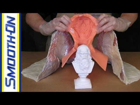 Mold Making Tutorial: How to Make a Support Shell for a Silicone Brush-On Mold - YouTube