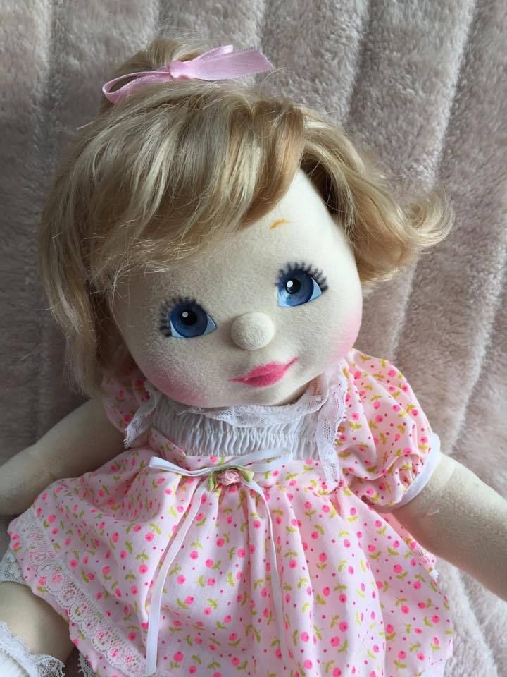 My Child Doll Ash Blonde Top Knot Blue Charcoal