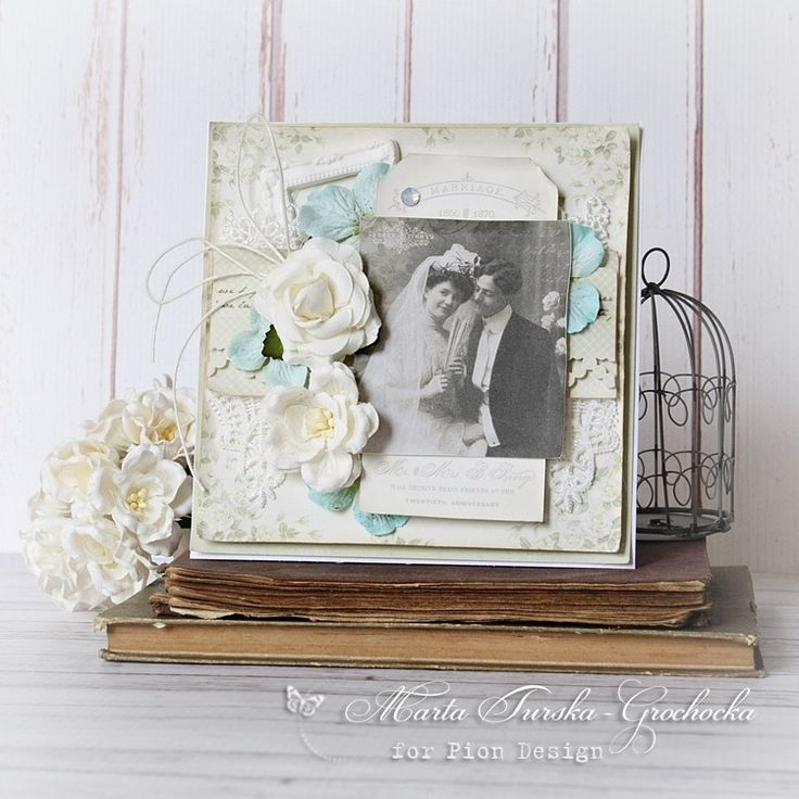 A vintage wedding card, the Vintage Wedding paper collection