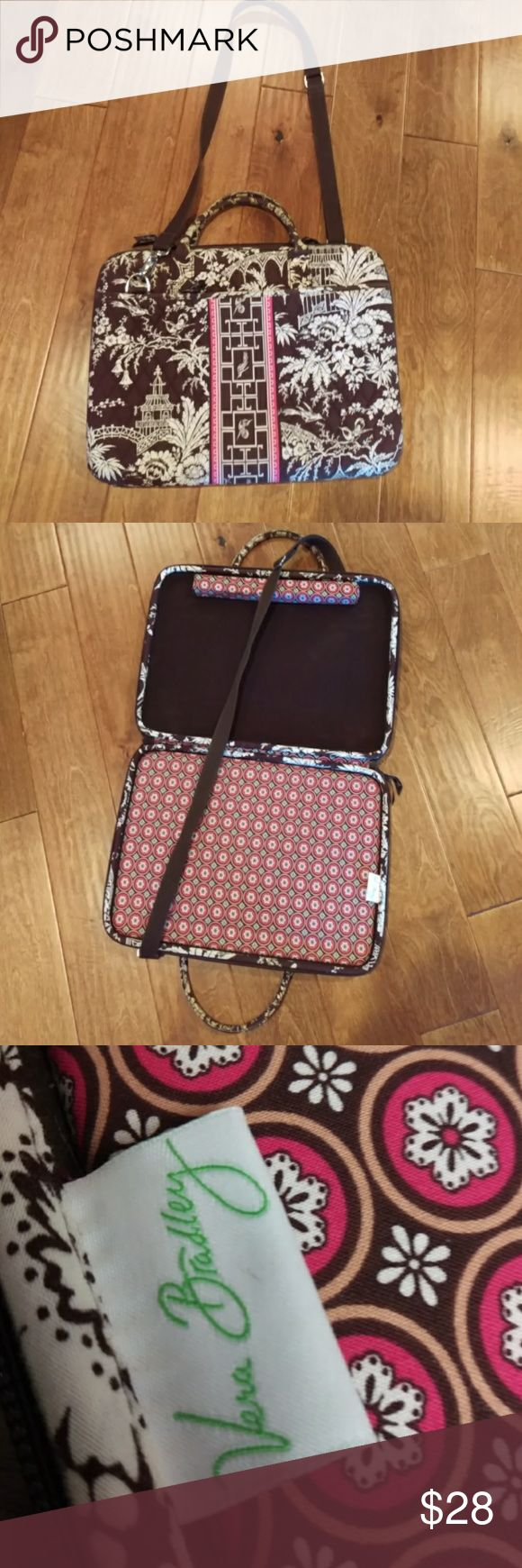 Vera Bradley Business Laptop Portfolio Case Bag Pre-owned in good shape. H12in, L17in, W2 1/2 in. Has pockets a long the bag from both sides. Vera Bradley Bags Laptop Bags
