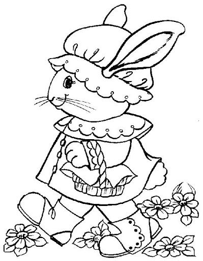 coloring pages easter bonnet song - photo#4