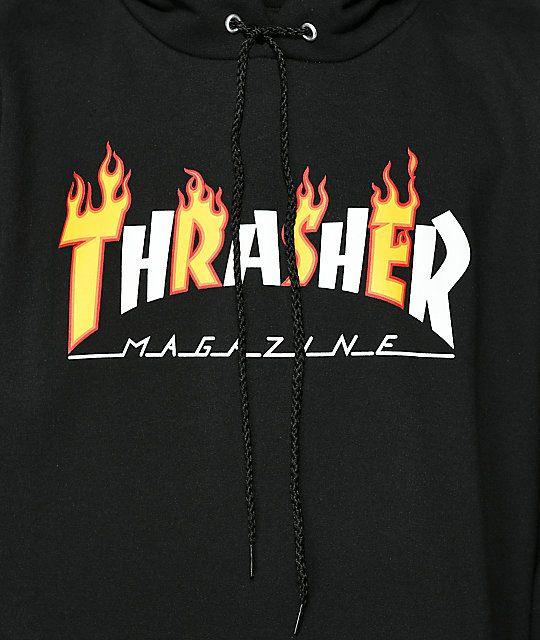 3c078ddd Thrasher Flame Magazine Black Hoodie in 2019 | Things I want ...