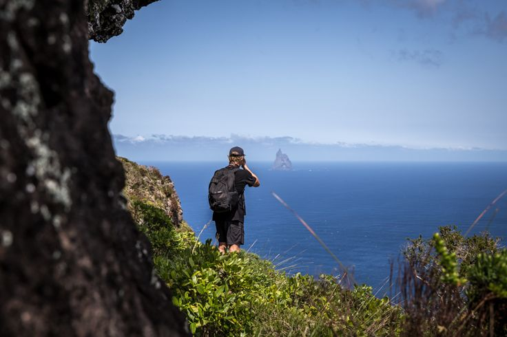 Shooting Balls Pyramid from Goat House Cave | Lord Howe Island