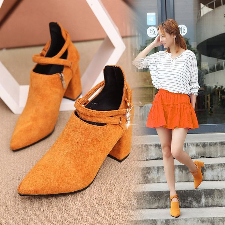 Discount 2017 Autumn New Fashion All match Rough Heels Heels Sexy Occupation Shoes. Click visit to read descriptions